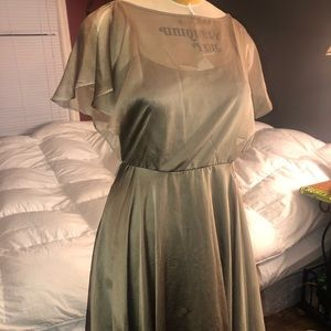 Olive knee length dress